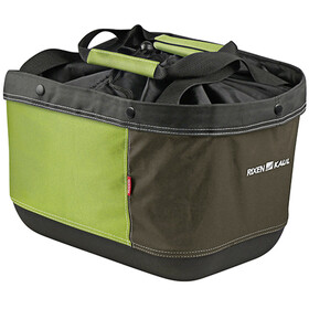 KlickFix Shopper Alingo GT Panier de courses pour Racktime, green/brown